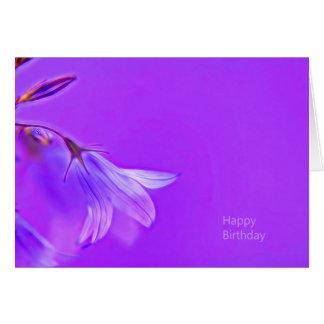 A modern PUR-polarizes birthday card with bluebell