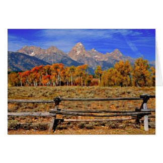 A Moment in Wyoming in Autumn Card