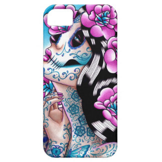 A Moment of Silence- Tattooed Sugar Skull Girl iPhone 5 Case