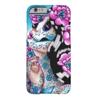 A Moment of Silence- Tattooed Sugar Skull Girl iPhone 6 Case