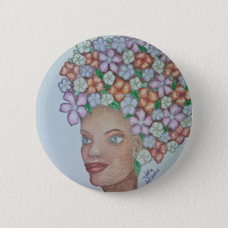 A MOMENT TO ADMIRE FLORES 6 CM ROUND BADGE