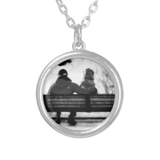 A Moment With Friend Silver Plated Necklace