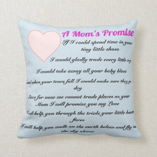 A Mom's Promise poem pillow