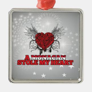 A Monacan Stole my Heart Christmas Ornament