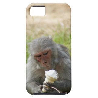 A monkey enjoying an ice cream iPhone 5 cover