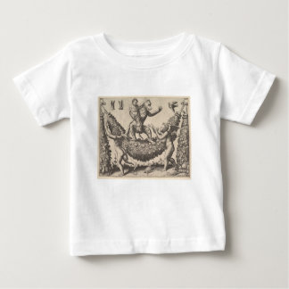 A monkey holding a bound putto standing on a garla baby T-Shirt