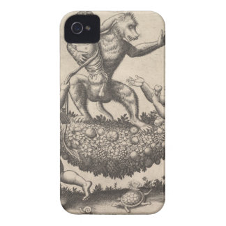 A monkey holding a bound putto standing on a garla iPhone 4 Case-Mate case