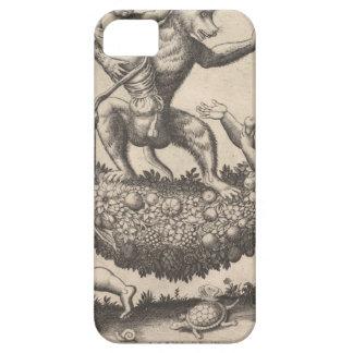 A monkey holding a bound putto standing on a garla iPhone 5 cover