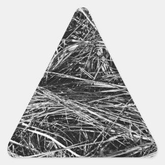 A monochrome photo of grass triangle sticker