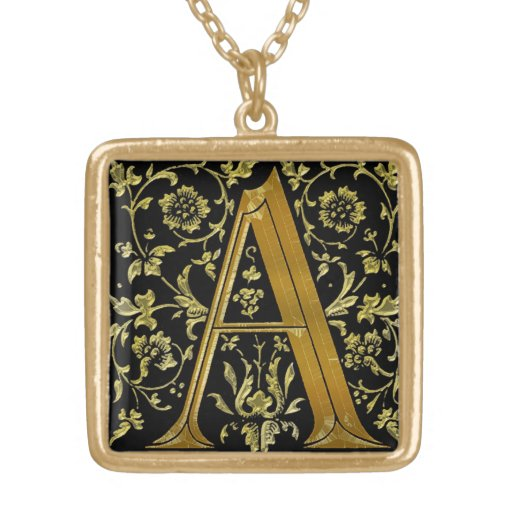 """""""A"""" Monogram Initial-Branded Gift Pendant Necklace"""