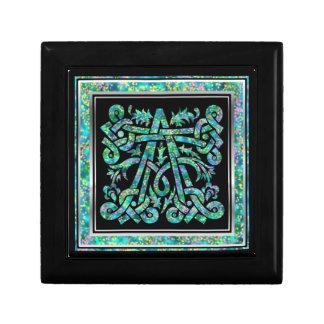 A Monogram Masselle Blue Decorative Box