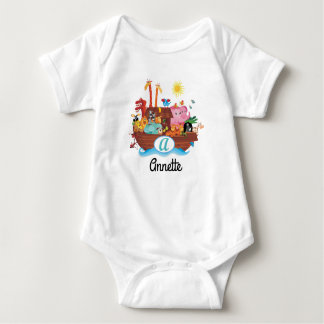 A Monogram Noah's Ark Personalized Baby T-shirt