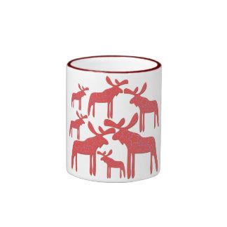 A moose family ringer mug
