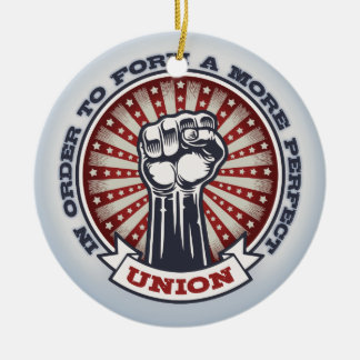 A More Perfect Union Ceramic Ornament