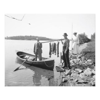 A Morning Catch-History Fishing Lg. Format Photo
