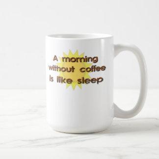 A Morning Without Coffee Is Like Sleep Funny Mug