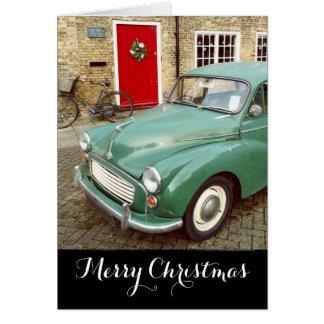 A Morris Minor Christmas Card