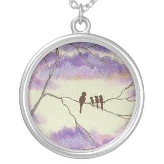 A Mothers Blessings Round Necklace From Painting