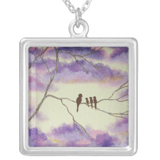 A Mothers Blessings Square Necklace From Painting
