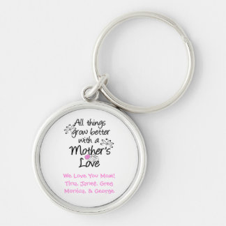 A Mother's Love Personalized Keychain