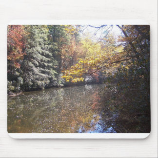 a mountain stream in the autum mouse pad