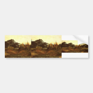 A Mountainous Landscape by Gustave Dore Bumper Stickers