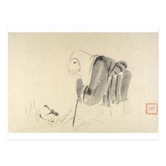 A Mouse as a Monk by Shibata Zeshin Postcard