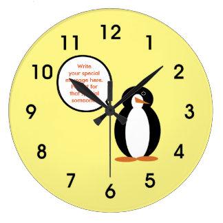 A Mr. Penguin Birthday Suit Wallclocks