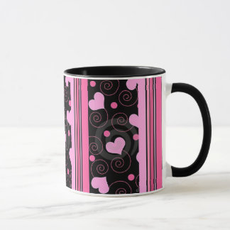 A mug of Heart and Swirls