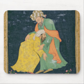 A Mullah bowing down to a man in Iranian dress who Mouse Pad