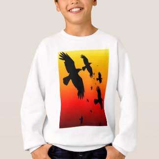 A Murder of Crows Against A Haunting Sunset Sweatshirt