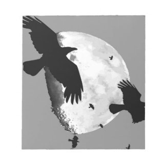 A Murder Of Crows And Moon Notepad