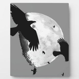 A Murder Of Crows And Moon Plaque