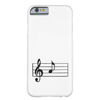 'A' Musical Note Barely There iPhone 6 Case