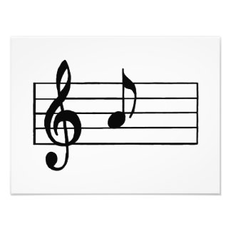 'A' Musical Note Photo Art