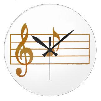 A musical note wallclocks