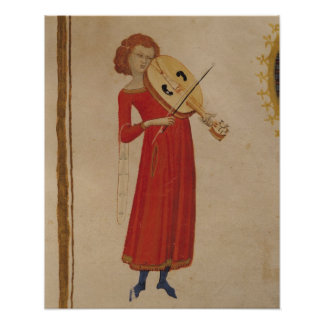 A Musician, from 'De Musica' by Boethius Poster