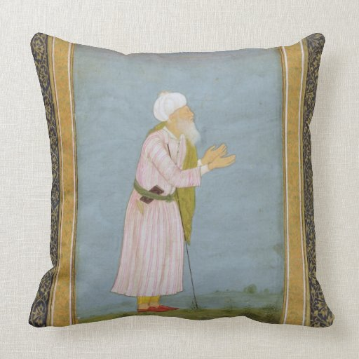 A Muslim Religious Figure, from the Small Clive Al Throw Pillows