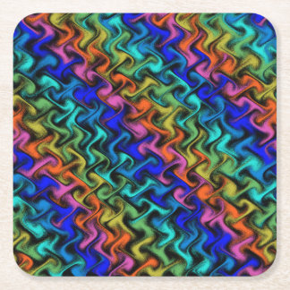 A Mystical Abstraction Square Paper Coaster