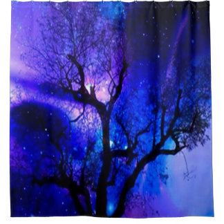 A Mystical Evening - Enchanted Forest Shower Curta Shower Curtain