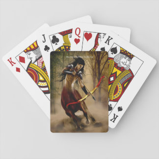 A Mystical Warrior Playing Cards