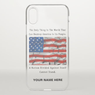 A Nation Divided (Black Letter Words) iPhone X Case