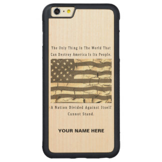 A Nation Divided Carved Maple iPhone 6 Plus Bumper Case
