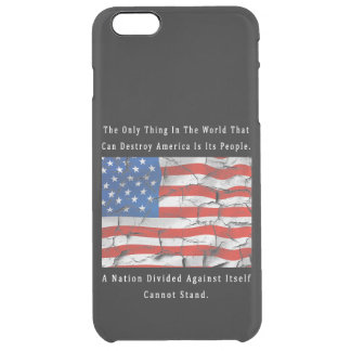 A Nation Divided Clear iPhone 6 Plus Case