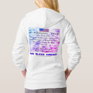 A Nation Divided-GOD BLESS AMERICA in Blue Letters Hoodie