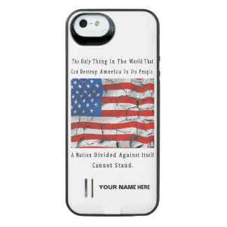 A Nation Divided iPhone SE/5/5s Battery Case