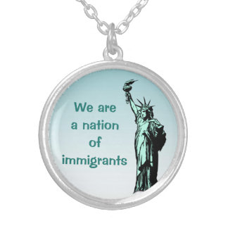 A Nation of Immigrants Blue Necklace