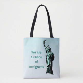 A Nation of Immigrants Blue Tote Bag