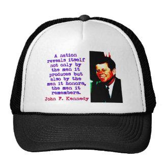 A Nation Reveals Itself - John Kennedy Cap