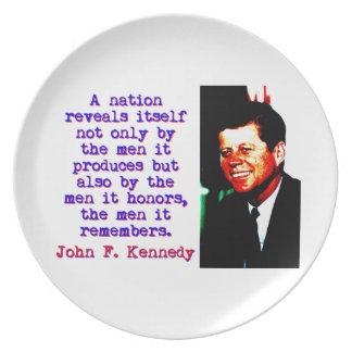A Nation Reveals Itself - John Kennedy Plate